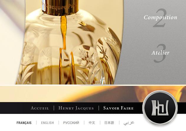 Création site internet parfumerie luxe