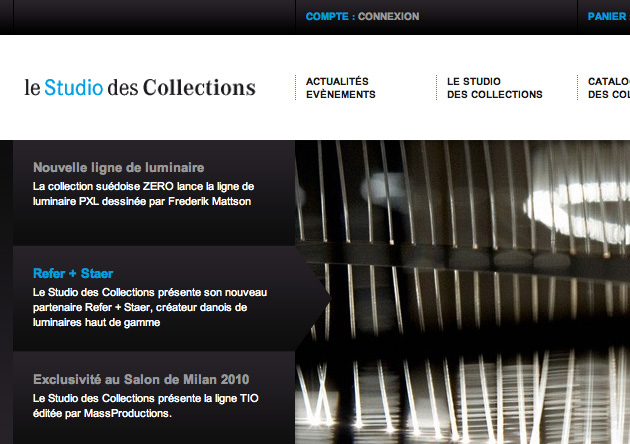Cr ation site e commerce mobilier design for Site mobilier design
