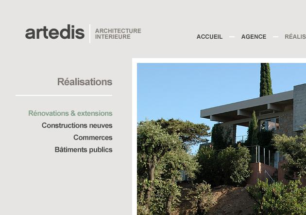 Site internet architecte d'intérieur