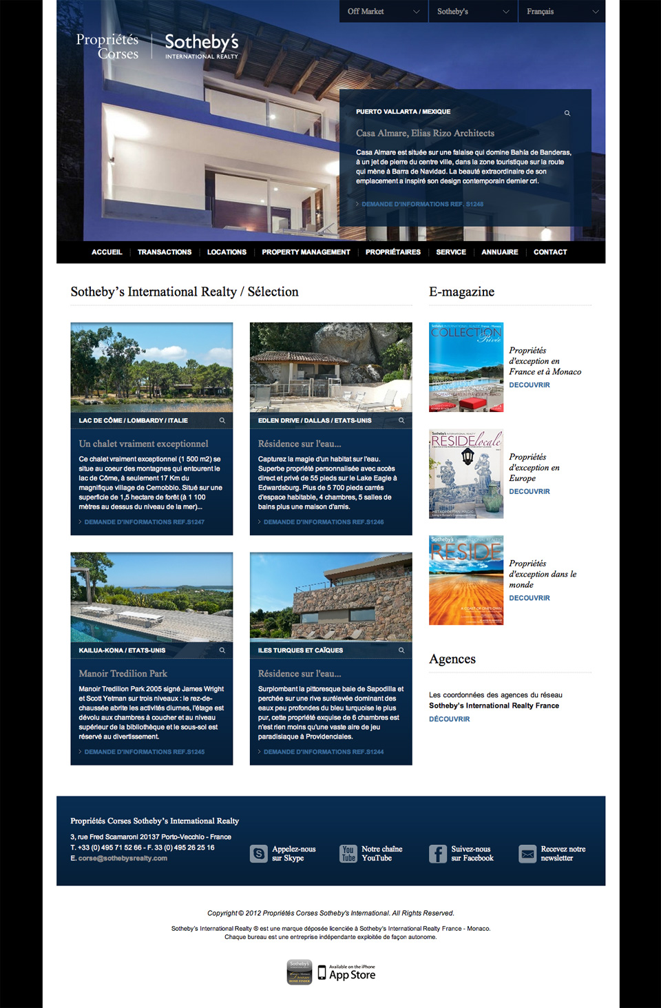 Conception web agence immobili re for Agence immobiliere site
